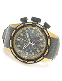 Invicta 15264 Reserve 50mm Bolt Swiss Chronograph Carbon Fiber Dial Leather Strap Watch