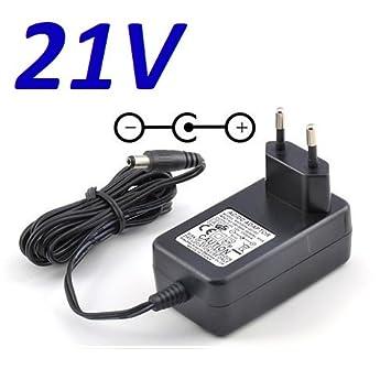 Cargador Corriente 21V Reemplazo Smart Intelligent LIC Charger Cargador Llave Electrica 18650 Li-Ion LiPo Battery Electric Wrench Charger Recambio ...