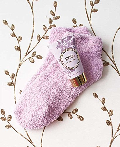 Cozy Sock and Lotion Gift Box Sets (French Lavender) (Set Lavender Gift Lotion)