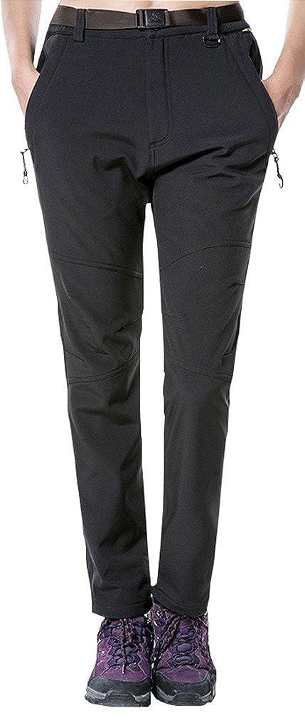 Geval de las Mujeres al Aire Libre a Prueba de Viento de Softshell Transpirable Fleece Pantalones de Esquí