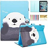New iPad 2017/2018 iPad 9.7 inch Case Cover, Dteck Folio PU Leather Slim Stand Case Cover [Card Slots] for Apple New iPad 9.7 (5th Generation and New 6th Gen iPad with Auto Wake/Sleep Function), Cute Bear