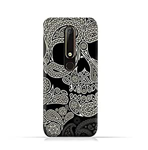AMC Design Nokia 6 2018 TPU Silicone Protective case with Skull & Piesley Design