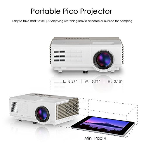 Pico projector wifi wireless lcd beamer support 1080p for for Pico projector accessories