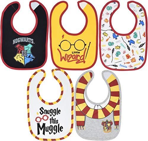 Harry Potter Newborn Infant Baby Boy Girl 5 Pack Bibs