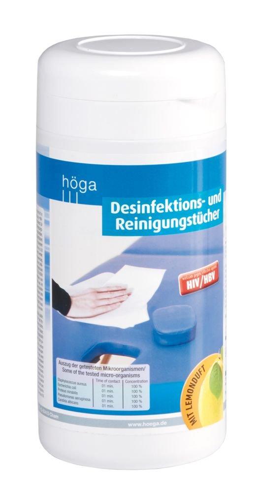 Toallitas Desinfectantes/paños de limpieza 100 unidades húmedas Desin fekiton paños en el dispensador, líquido desinfectante.