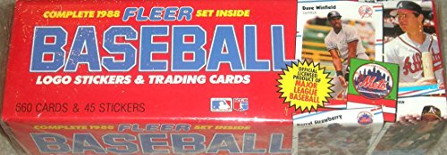 1988 Fleer MLB Baseball Factory Sealed Set in Colorful Christmas Version Box with 660 Cards and 45 Stickers