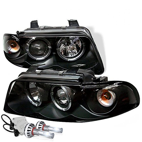 99 Audi A4 Wagon ([Built-In COB Cree LED Low Beam] - VIPMotoZ 1996-1999 Audi A4 Sedan Wagon Halo Ring Headlights, Driver & Passenger Side)
