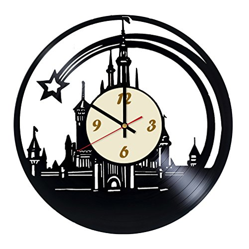 Walt Disney World Castle Designed Wall Clock - Decorate your home with Modern Art - Best gift for friend, for him and her -