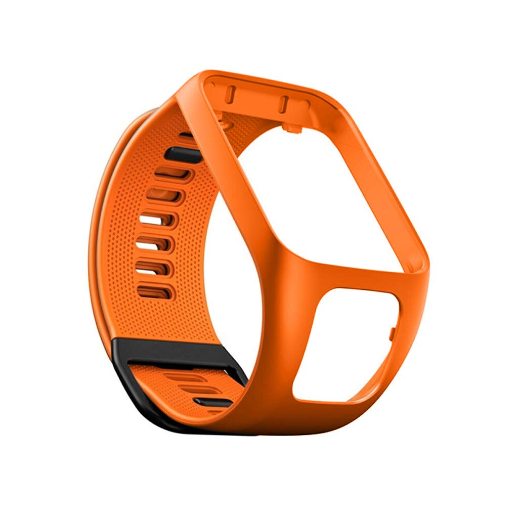 Sangle En Silicone de Remplacement Pour Tomtom Adventurer//Runner 2 3//Spark 3 Orange Smart Bracelet/_Tianya/®
