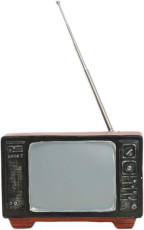 LHXHL Modelo De TV De Resina Retro, DecoracióN De Radio De Estilo Industrial, DecoracióN De Escritorio De Sala De Estar Creativa En Casa, Accesorios De FotografíA De Estudio: Amazon.es: Deportes y aire