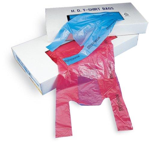 "Elkay CT1423M 0.6 mil Plastronic T-Shirt Bag, 9"" x 5"" x 23"", Magenta (Pack of 1000)"