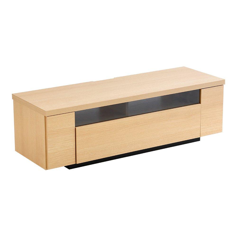 シンプルでスタイリッシュな完成品テレビ台テレビボード ナチュラル 幅120cm(日本製木目) 幅120cm ナチュラル B01N9LYQK0