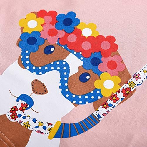 shirt T Hauts Cartoon Toddler À Blouse Manches Filles Courtes Long Bébés Vêtements Pink2 Garçons Enfants FHfHwqdxC