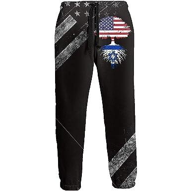 Emild Israel American Flag Tree of Life Pantalones de chándal ...