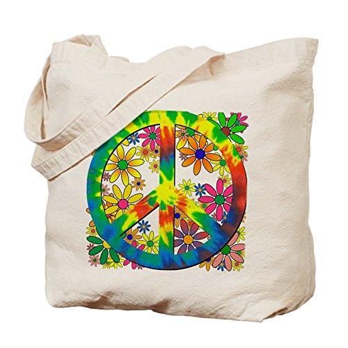 CafePress diseño de flores gamuza de paz–lona bolso, bolsa de la compra
