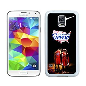Hot Sell L.A. Clippers 4 White Samsung Galaxy S5 I9600 Protective Phone Case
