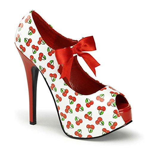 Heels-Perfect - Punta abierta de material sintético mujer blanco - multicolor