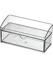 iDesign Rain Med+ Bathroom Medicine Cabinet Organizer, for Contact Lenses, Solution, Medical Supplies, Cotton Balls - Clear