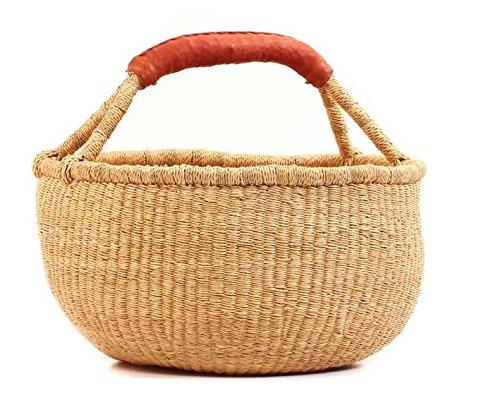 (Ghana Baskets| Bolga African Baskets| Dye-Free Market Basket | Fair Trade (17