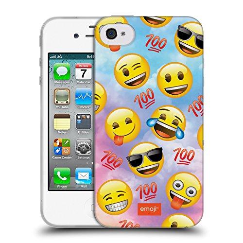 Officiel Emoji Heureux Smileys Étui Coque en Gel molle pour Apple iPhone 4 / 4S