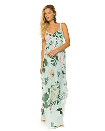 Agua Bendita Camellia Elvira Maxi Dress, S