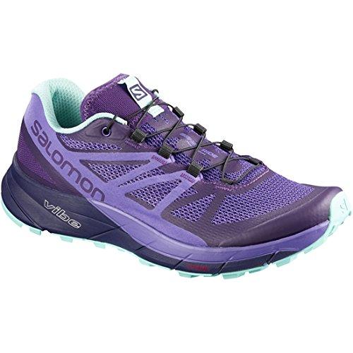 Salomon Women's Sense Ride Running Trail Shoes Parachute Purple/Purple Opulence/Beach Glass 9.5