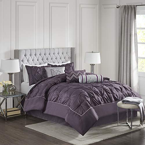 Piedmont 7 Piece Comforter Set - Plum (California King)