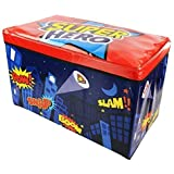 SuperHeros Kids Children's Storage Toy Box Boys Girls Books Chest Clothes Seat Stool Shop monk (Super Hero), Large by super heros