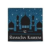 Night Blue Castle Islam Muslim Anti-slip Floor Pet Mat Square Home Kitchen Door 80cm Gift