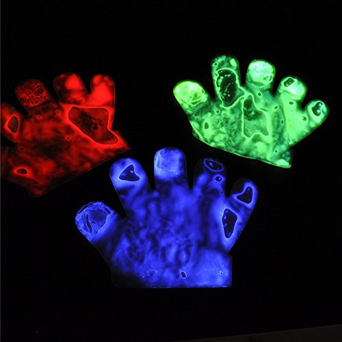 Halloween Glow Glove Cool Light up Toy Colorful Party Favor for Kids Adults - To Katy Perry Easy Costume Make