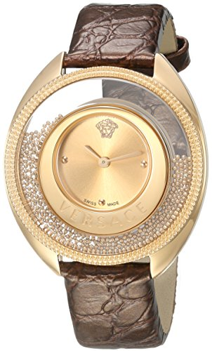 Versace-Womens-DESTINY-SPIRIT-Small-Swiss-Quartz-Stainless-Steel-and-Leather-Casual-Watch-ColorGold-Toned-Model-VAR020016