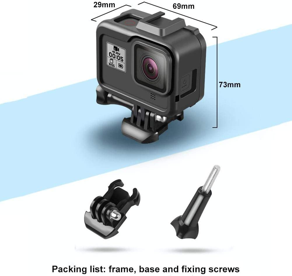 Real Machine Open Mold Lijuan Qin Sports Camera Protection Frame for GoPro HERO8 Black One-Piece Molding Anti-Drop Wear