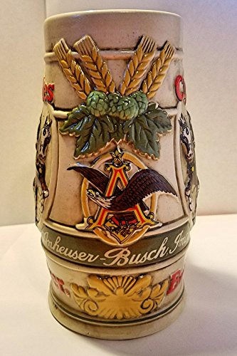 - Budweiser Holiday Steins Collectible Holiday Stein Series (Year 1983)