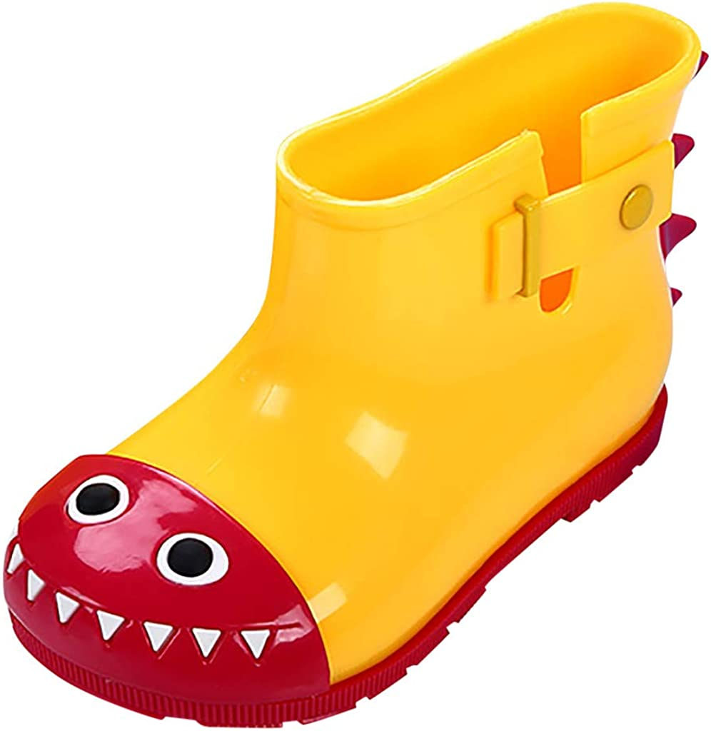 5-5.5 Years Old, Yellow Baby Toddler Boys Girls Fashion Rain Shoes Waterproof Boot 2-7 Years Old Kids Cartoon Rain Boots Galoshes