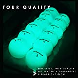 GlowV2 Night Golf Balls - Best Hitting Ultra Bright Glow Golf Ball - Compression Core and Urethane Skin - 2 Count, 6 Count, or 12 Count