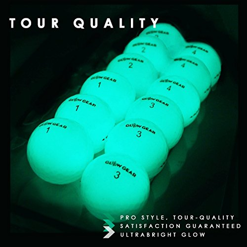 GlowV2 Night Golf Balls (12-Pack) - Best Hitting Ultra Bright Glow Golf Ball - Compression Core and Urethane Skin