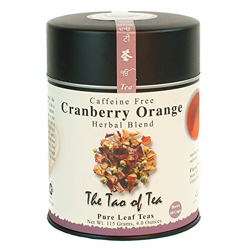 - The Tao of Tea, Cranberry Orange Herbal Tea, 4 Ounce Tin