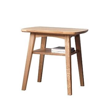 Amazon.com: Mesa de café cuadrada doble de madera maciza ...