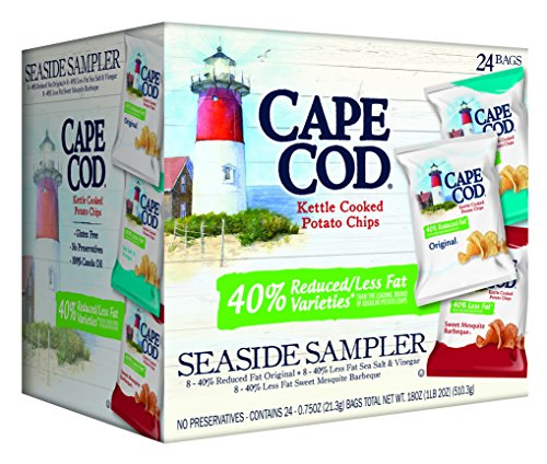 Cape Cod Kettle Seaside Sampler Potato Chips, 24 Count