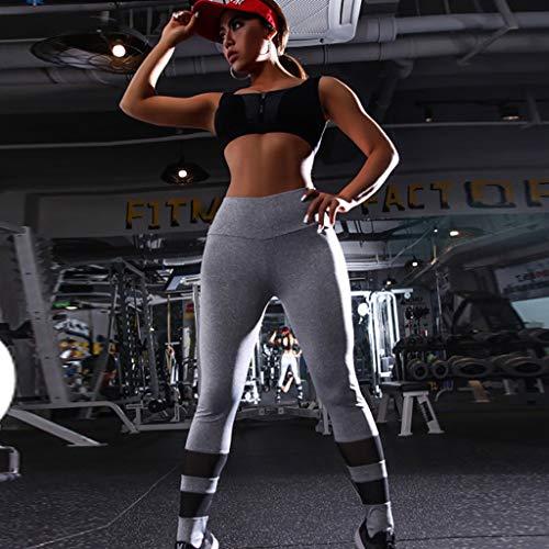 QBQCBB Solid Color Pants Women Hip Yoga Pants Sports Fitness Running Yoga Pants Sweatpants, Leggings{Gray,S} by QBQCBB (Image #4)