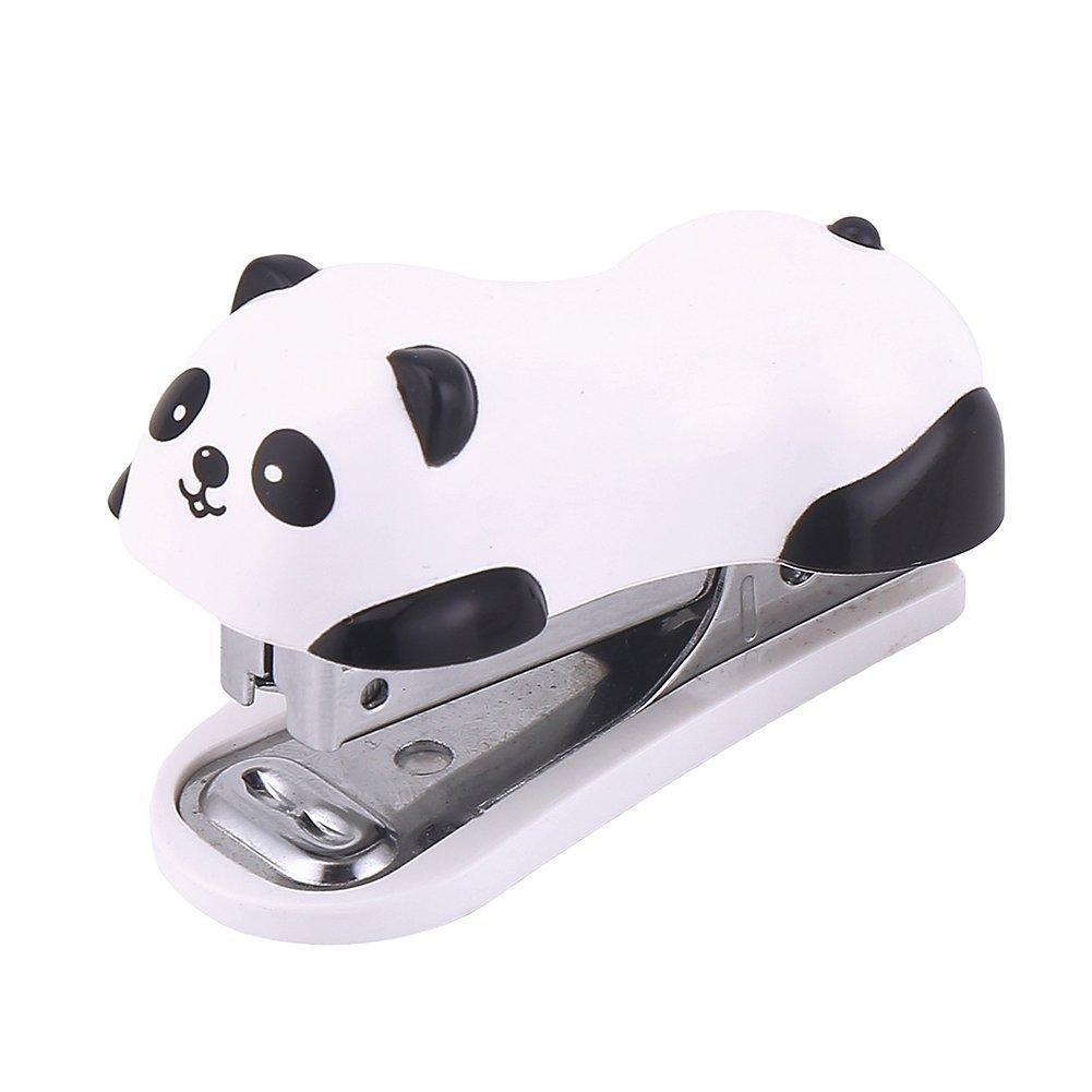Home Mart Cute Panda Mini Desktop Stapler Practical Stapler Labor Force Stapler Manual Staplers Office Equipment Student Stapler Kits