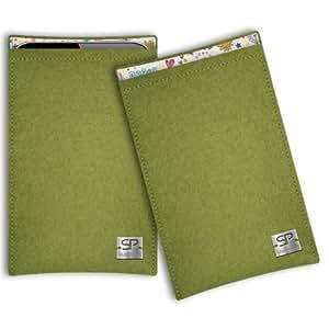 SIMON PIKE Cáscara Funda de móvil Boston 9 verde Nokia 106 Fieltro de lana