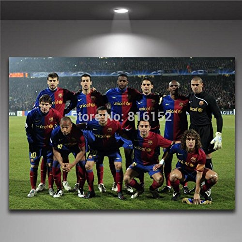 Spanish Primera Division FCB Barcelona Canvas Printed World Cup Poster Soccer Football Team Painting Boy's Room Decor