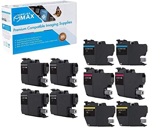 4-BK//2-C//M//Y SuppliesMAX Compatible Replacement for Brother DCP-J572//J772//J774//MFC-J491//J497//J690//J890//J895DW High Yield Inkjet Combo Pack LC-3213XL-4BK2CMY