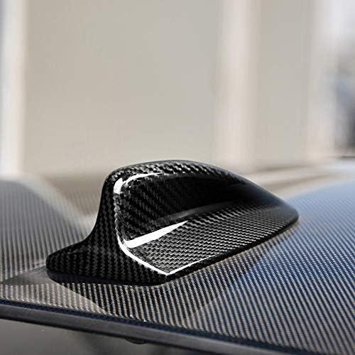 SENLINSQ BMW E46車のスタイリングカーボンファイバーカーアンテナカバーシャークフィントリムカバー装飾キャップカーアクセサリー