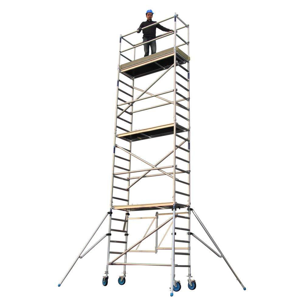 5.8 Meter Arbeitsh/öhe Arbeitsh/öhe 4 bis 8 Meter Alumexx Klappger/üst ALX FS 75
