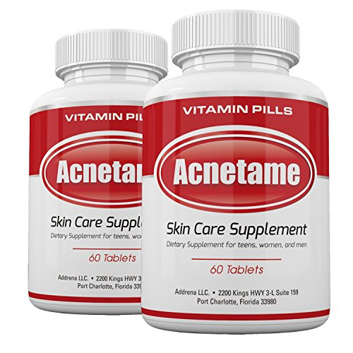 Acnetame 2 Pack- Vitamin Supplements for Acne Treatment- Hormonal Acne Pills to Clear Oily Skin for Women, Men, Teens, and Adults ()