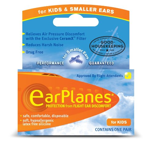 Original Child EarPlanes by Cirrus Healthcare Earplug for Airplane Travel Ear Protection (1 Pair) ()