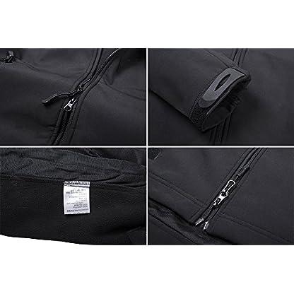 TACVASEN Military Waterproof Men's Softshell Jacket Fleece Lining Camouflage Outdoor Coat 4