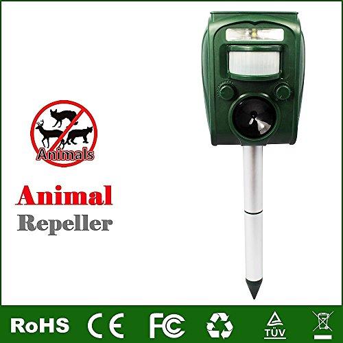 Sensor Wind Ultrasonic (TAFU Ultrasonic Solar Power Battery Powered Animal and Pest Repeller, Mice Repellent, Bird Repellent, Deer Repellent, Dog Repellent, Cat repellent)